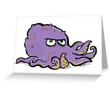 the grumpy octopus Greeting Card