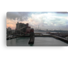 industrial harbour I, rotterdam. Canvas Print