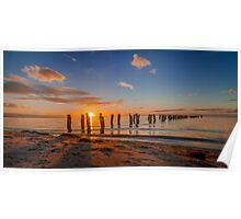A Winter's Sunset at the Old Clifton Springs Jetty Poster
