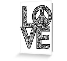 Checkered LOVE=Peace Greeting Card