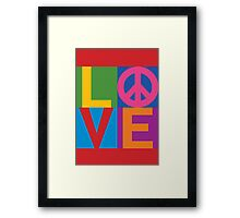 Color Block LOVE=Peace Framed Print