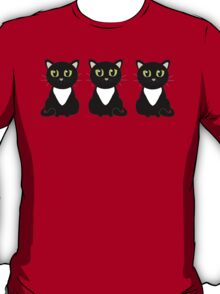 Three Black and White Cats T-Shirt