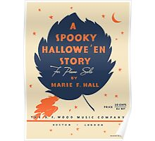 A SPOOKY HALLOWEEN STORY (vintage illustration) Poster