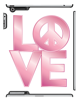 Pink Metallic LOVE=Peace by Lisann