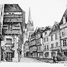 Quimper - Black ink drawing by nicolasjolly