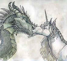 Dragon and Unicorn by Kat the Coffee Lion