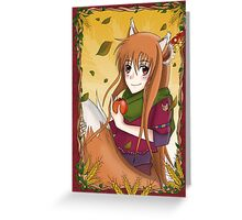 "Horo ""Spice & Wolf"" Greeting Card"