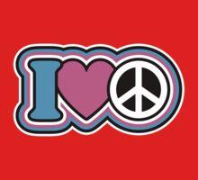 I Love Peace Kids Clothes