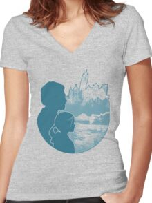 Survivors (Alternate) Women's Fitted V-Neck T-Shirt