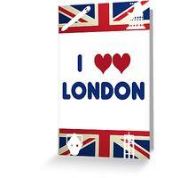 I Love London - Whovian Edition Greeting Card