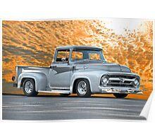 1956 Ford F100 Custom Pick-Up Truck IV Poster