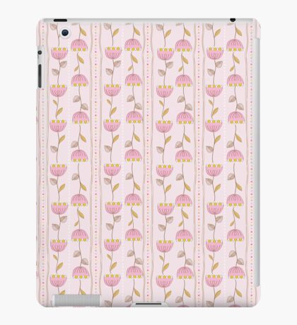 funny pattern with pink flowers iPad Case/Skin