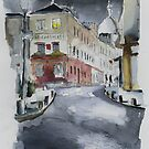 Le Consulat - Watercolor by nicolasjolly