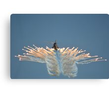Sea King HC4 Popping Flares Canvas Print