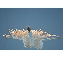 Sea King HC4 Popping Flares Photographic Print