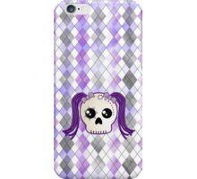 Kawaii Goth Cyberpunk Skull iPhone Case/Skin