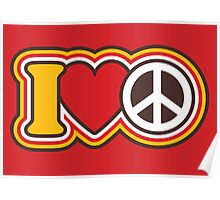I Love Peace Poster
