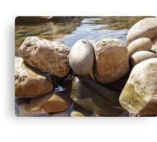 Watered Rocks Canvas Print
