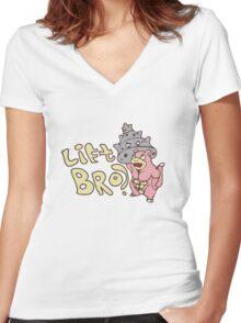 Lift Bro? Women's Fitted V-Neck T-Shirt