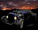 Low Boy Roadster Meets Morning's Rosy Glow by ChasSinklier