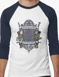 Time Lord Crest Men's Baseball ¾ T-Shirt