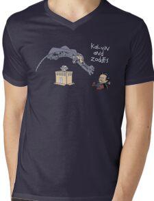 Kal-vin and Zoddes Mens V-Neck T-Shirt