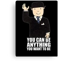 MR BENN KIDS CHILDRENS CULT TV 70'S 80'S RETRO CARTOON BBC SLOGAN FUNNY Canvas Print