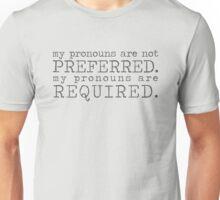 Pronouns Unisex T-Shirt