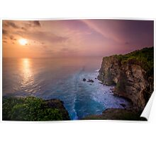 Uluwatu Cliff Sunset Poster