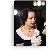 Make up touch up Canvas Print