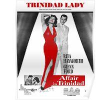 TRINIDAD LADY (vintage illustration) Poster
