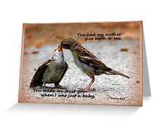 As a Mother Loves Her Children Greeting Card