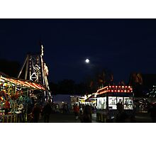 Carnival and Moon Photographic Print