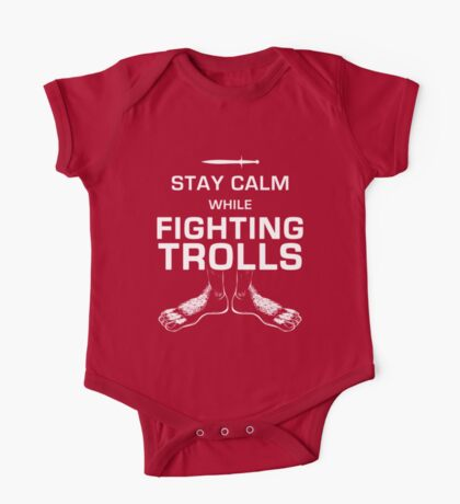 Stay Calm While Fighting Trolls One Piece - Short Sleeve