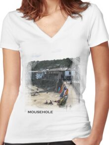 Mousehole Women's Fitted V-Neck T-Shirt