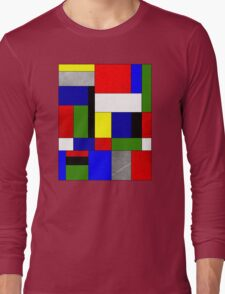 Mondrian #4 Long Sleeve T-Shirt
