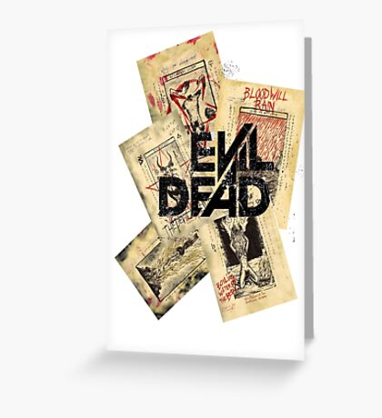 the evil dead ash vs the evil dead army of darkness  Greeting Card