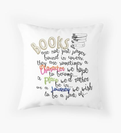Books are not just.. Throw Pillow