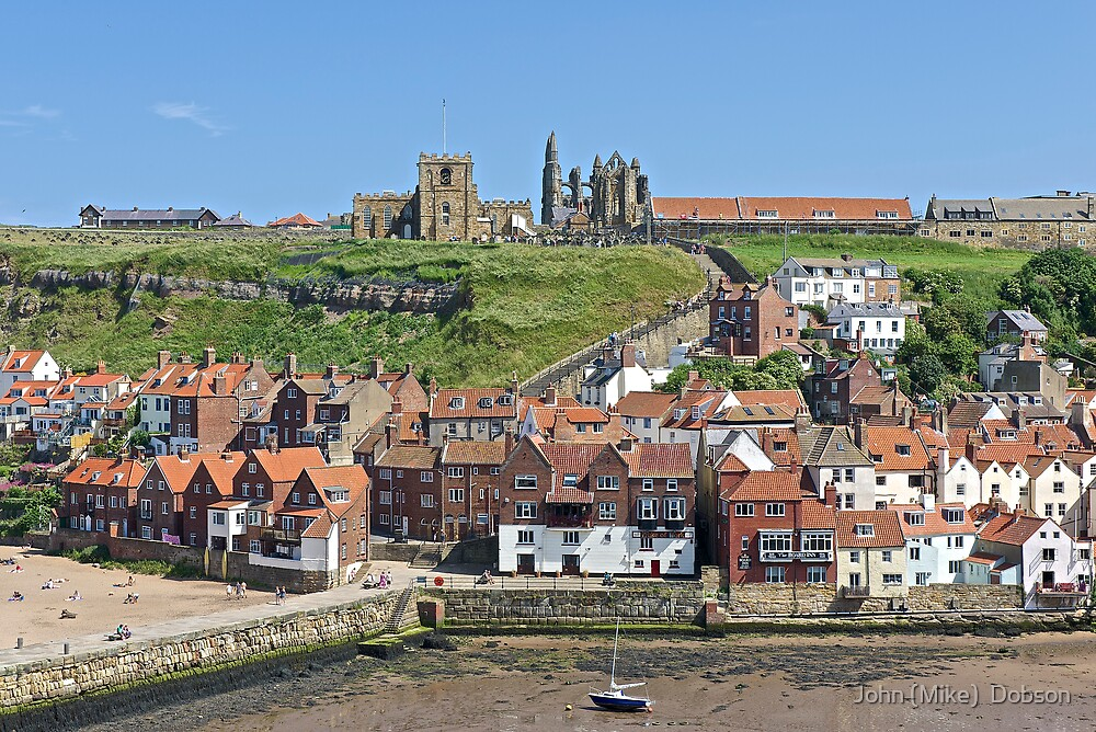Whitby Harbour by John (Mike)  Dobson