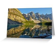 Moraine Lake Reflections Greeting Card