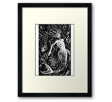 THE MERMAIDS POLLUTION TORMENT (FOR LIGHT BACKGROUND) Framed Print