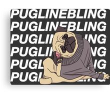 Pugline Bling Canvas Print