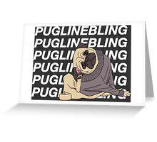 Pugline Bling Greeting Card