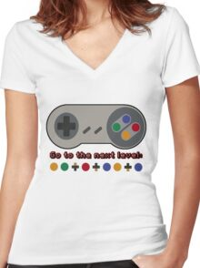 Cheat Mode Women's Fitted V-Neck T-Shirt