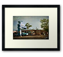 The Blue Swallow Motel Framed Print