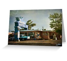 The Blue Swallow Motel Greeting Card