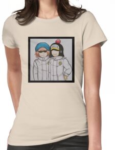 Shachi and Penguin Womens Fitted T-Shirt