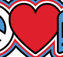 PEACE LOVE MUSIC Symbols Sticker