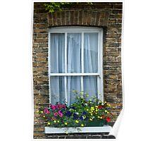 Cottage Window, Sandwich, Kent Poster