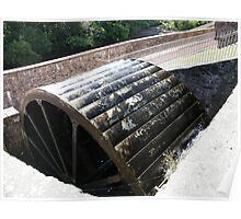 Water Wheel, New Lanark Mill, Scotland Poster